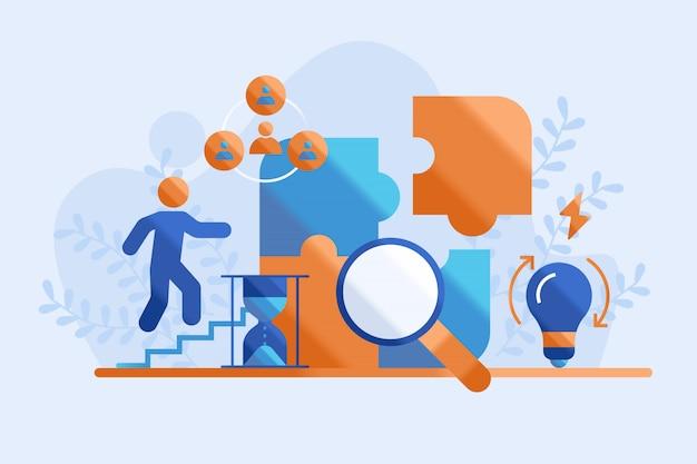 Illustration de concept d'entreprise