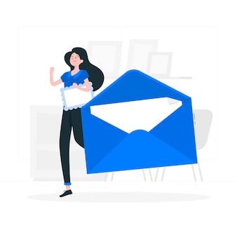 Illustration de concept d'enveloppe