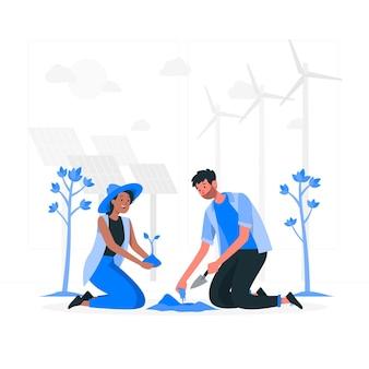 Illustration de concept d'environnement