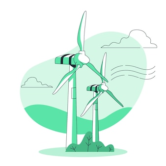Illustration de concept d'éolienne
