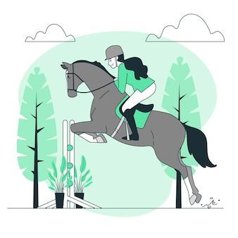 Illustration de concept équestre