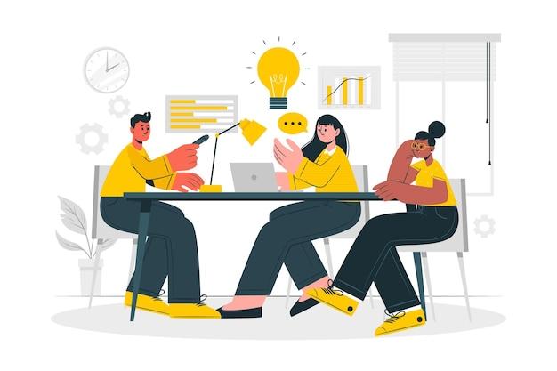 Illustration de concept d'équipe