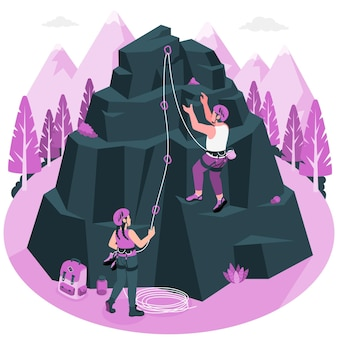 Illustration de concept d'escalade