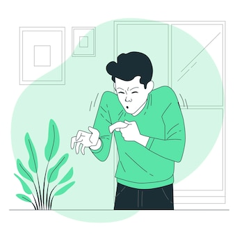Illustration de concept d'éternuement