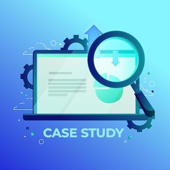 Illustration de concept d'étude de cas dégradé