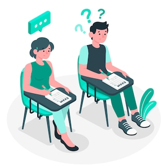 Illustration de concept d'examens