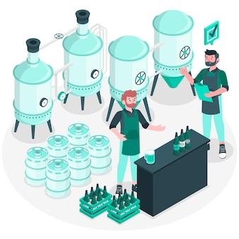 Illustration de concept de fabrication de bière artisanale