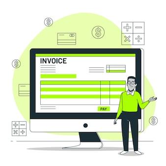 Illustration de concept de facture