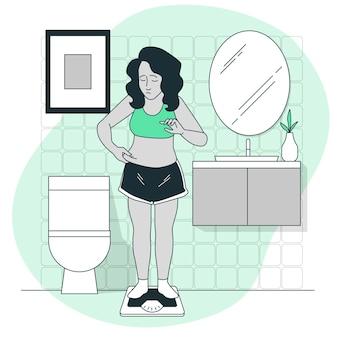 Illustration de concept de faible estime de soi