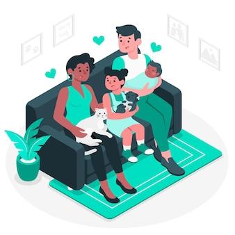 Illustration de concept de famille