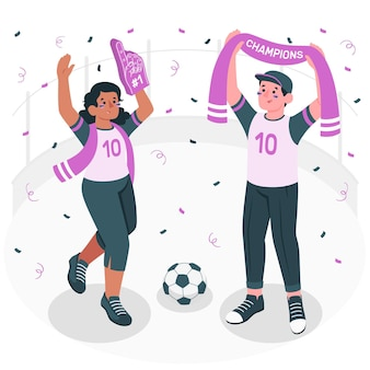 Illustration de concept de fans de football