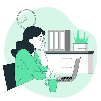 Illustration de concept de fatigue