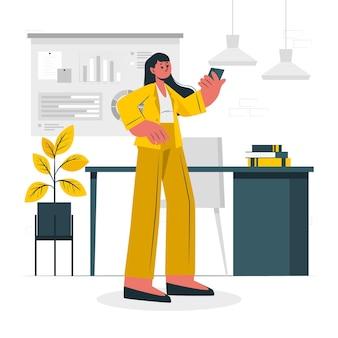 Illustration de concept de femme d & # 39; affaires