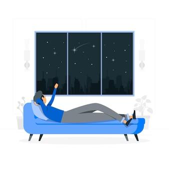 Illustration de concept de fenêtre étoilée