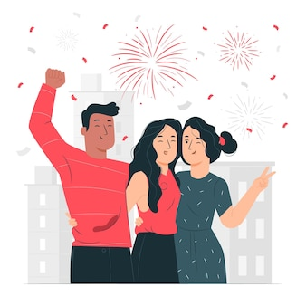 Illustration de concept de festivités