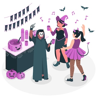 Illustration de concept de fête d'halloween