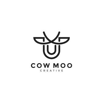 Illustration de concept de feuille de vache