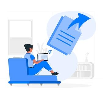 Illustration de concept de fichiers envoyés