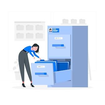 Illustration de concept de fichiers personnels
