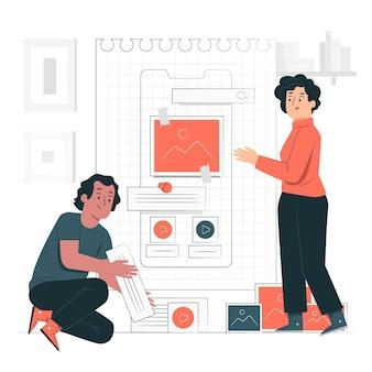 Illustration de concept filaire mobile