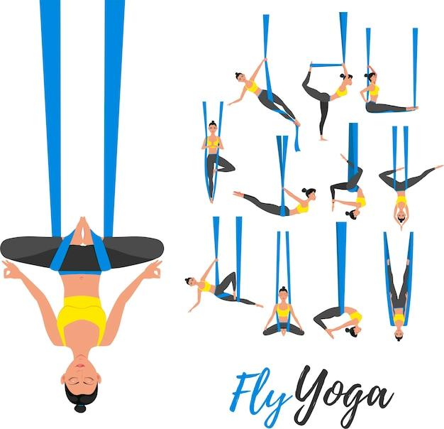 Illustration de concept fly yoga