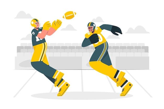 Illustration de concept de football américain