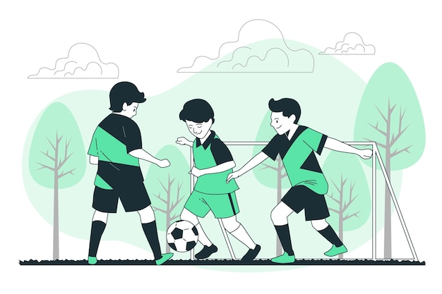 Illustration de concept de football junior