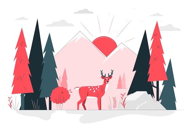 Illustration de concept de forêt