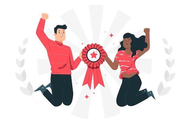 Illustration de concept de gagnants