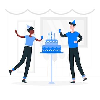 Illustration de concept de gâteau d'anniversaire