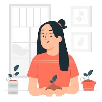 Illustration de concept de germination
