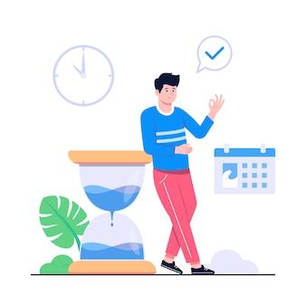 Illustration de concept de gestion du temps
