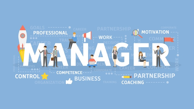 Illustration de concept de gestionnaire.