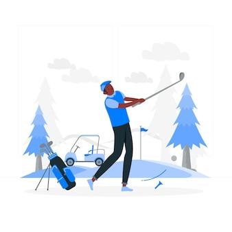Illustration de concept de golf