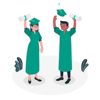 Illustration de concept de graduation