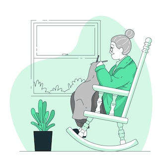 Illustration de concept de grand-mère