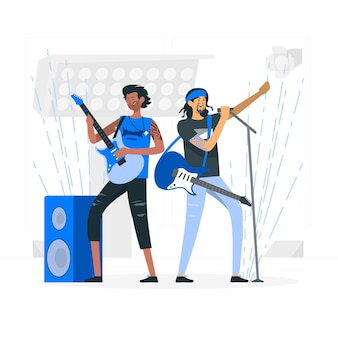 Illustration de concept de groupe de rock
