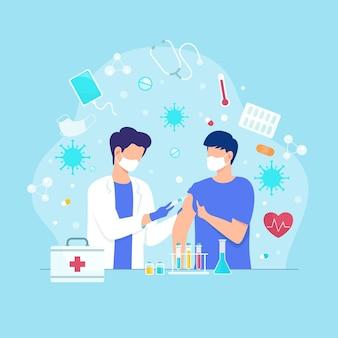 Illustration de concept de guérison de virus