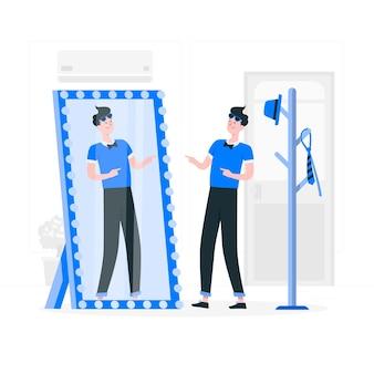 Illustration de concept de haute estime de soi