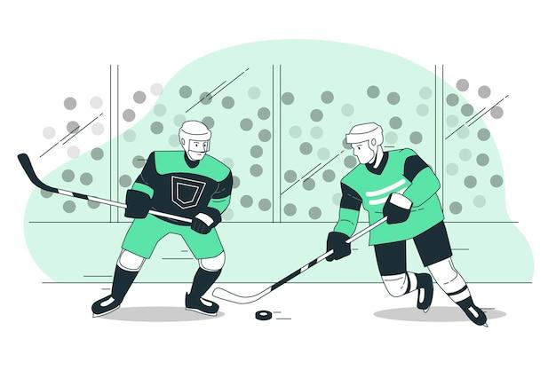 Illustration de concept de hockey