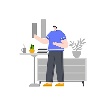 Illustration de concept homme d'affaires pour la page de destination