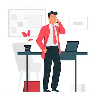 Illustration de concept d'homme d'affaires