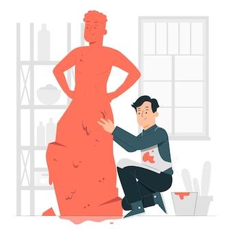 Illustration de concept d'homme d'argile