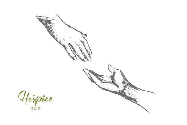 Illustration de concept d'hospice