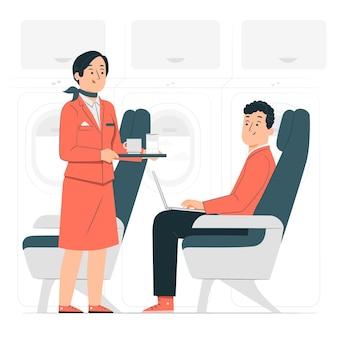 Illustration de concept d'hôtesse de l'air