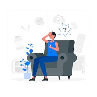 Illustration de concept hypocondriaque