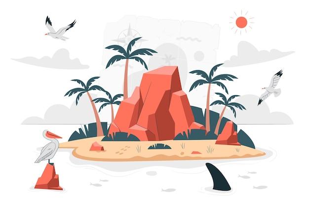 Illustration de concept d & # 39; île