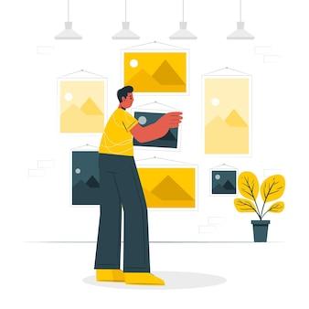 Illustration de concept d'images
