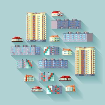 Illustration de concept avec les immeubles d'habitation.