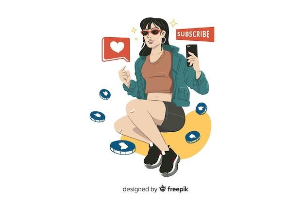 Illustration de concept d'influence